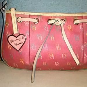 Beautiful Pink Dooney and Bourke Mini Shoulder Bag